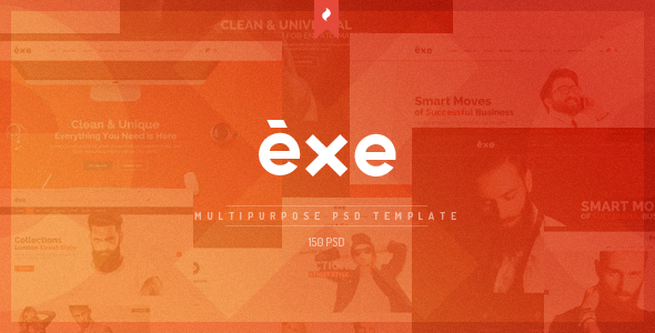 Exe Multipurpose PSD Template