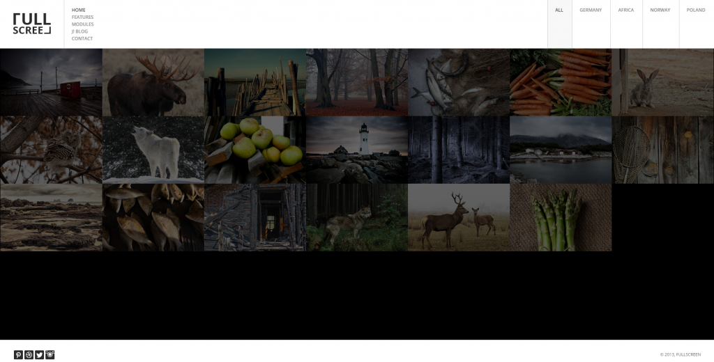 FULLSCREEN Photography Joomla Template
