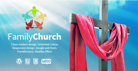 Family Church Clean Responsive Religion Theme