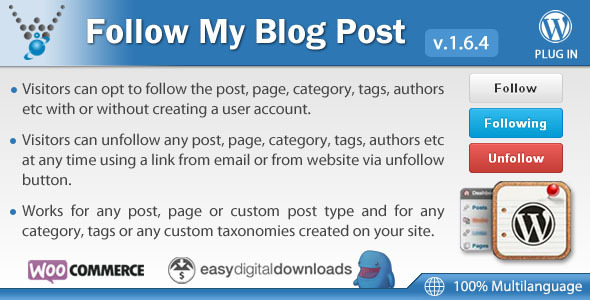 Follow My Blog Post WordPress Plugin