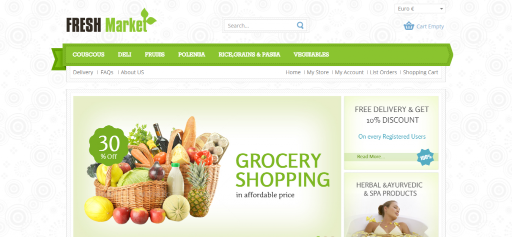 Fresh Market Responsive VirtueMart Template