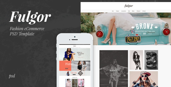 Fulgor Fashion eCommerce PSD Template