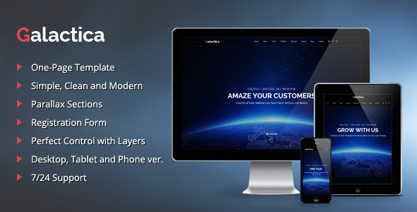 Galactica Creative Multi-purpose Muse Template