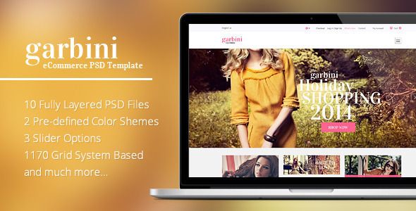 Garbini Amazing eCommerce PSD Template
