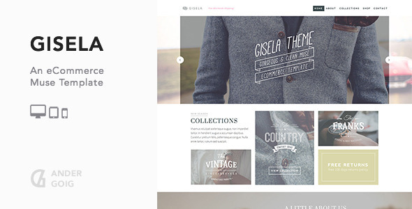 Gisela eCommerce Muse Template