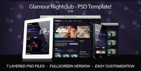 Glamour Nightclub PSD Template
