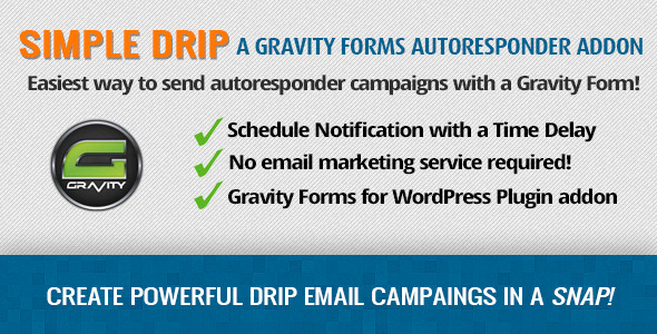 Gravity Forms Simple Drip Autoresponder Addon