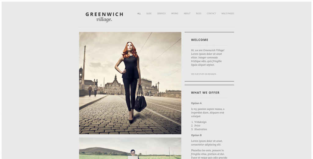 Greenwich Village Responsive Joomla One-Page