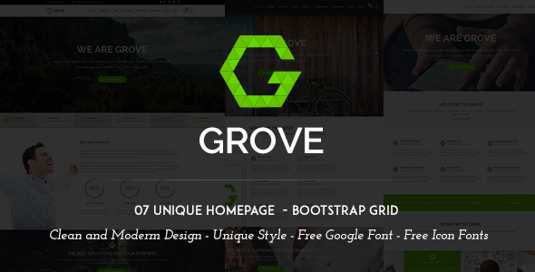Grove Multipurpose PSD Template
