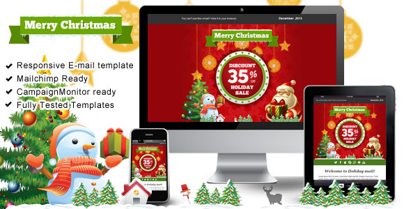 Happy Holiday Responsive Email Templates