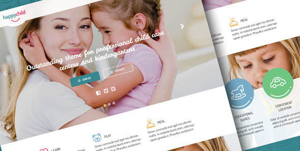 HappyChild Kindergarten PSD Template