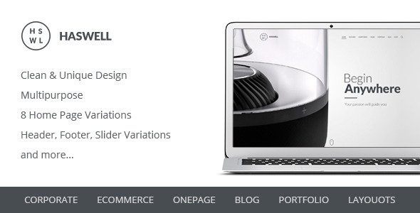 Haswell Multipurpose PSD Template