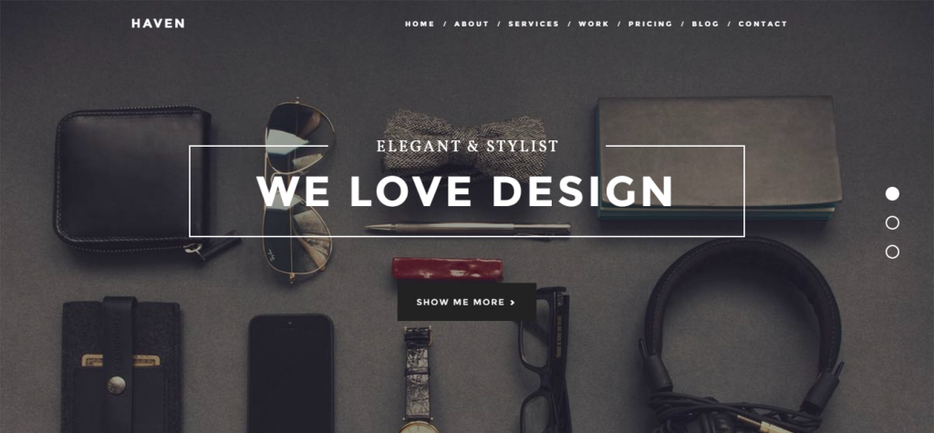 Haven Elegant One Page Joomla Template