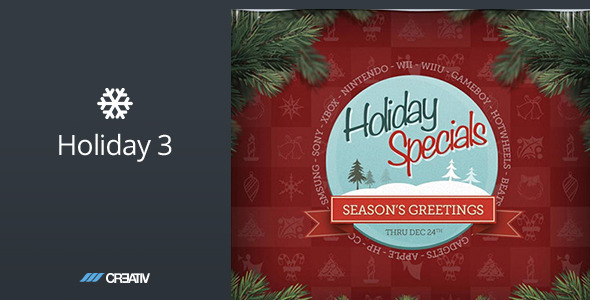Holiday 3 HTML Email