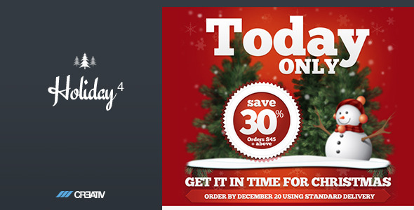 Holiday 4 Responsive Email Template