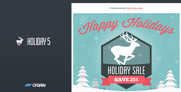 Holiday 5 Responsive Email Template