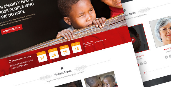 Honor Charity and Nonprofit PSD Template