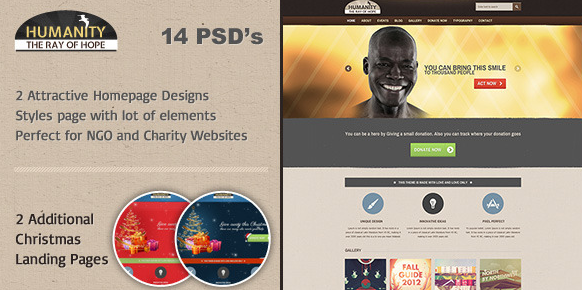 Humanity Church Non Profit PSD Template