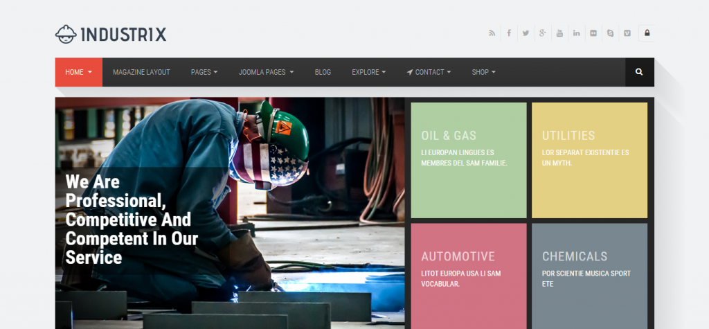 Industrix Joomla Responsive Business Template