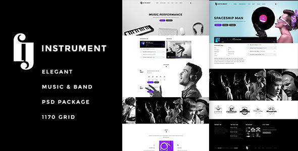 Instrument Elegant Music & Bands PSD