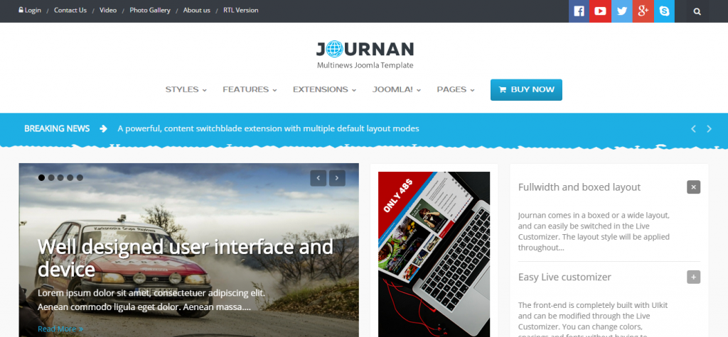 Journan Multi-Purpose News Magazine Template