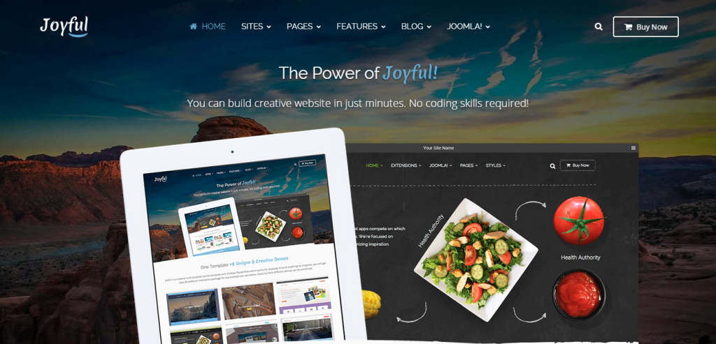 Joyful Creative Multipurpose Joomla Template