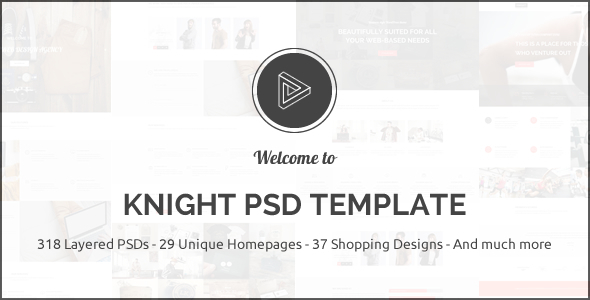 Knight Multipurpose PSD Template