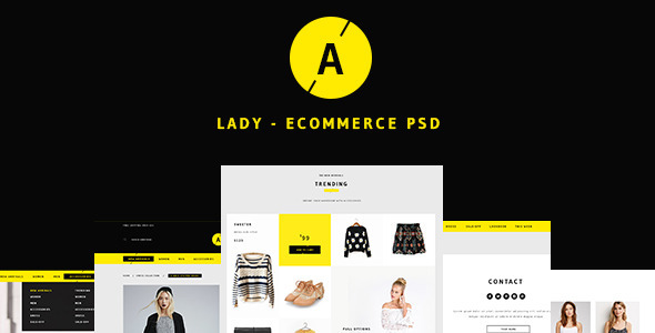 Lady Sweet Ecommerce PSD Template