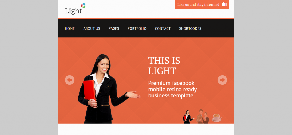Light Facebook Business High Resolution Template