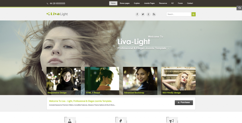 Livalight Theme Responsive Multi-Purpose Joomla