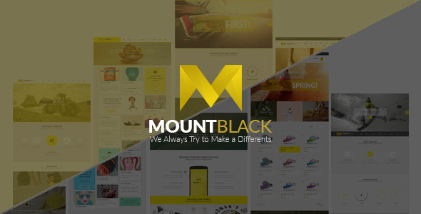 MOUNTBLACK l Multipurpose PSD Template