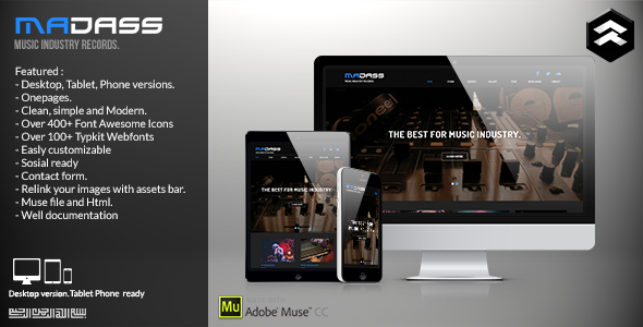 Madass music Industry Muse Template