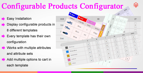 Magento Configurable Products Configurator