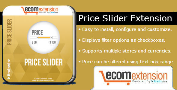 Magento Price Slider Extension