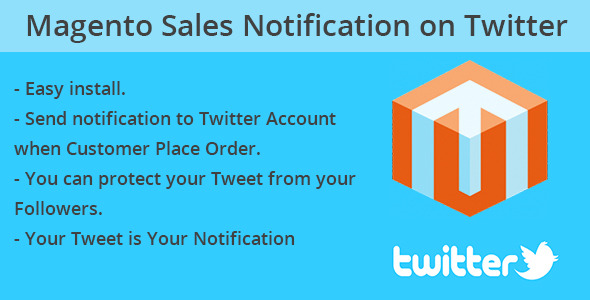 Magento Sale Twitter Notification