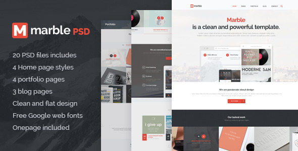 Marble Multipurpose PSD Template