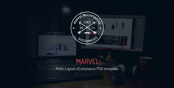 Marvel Multi-Layout eCommerce PSD Template