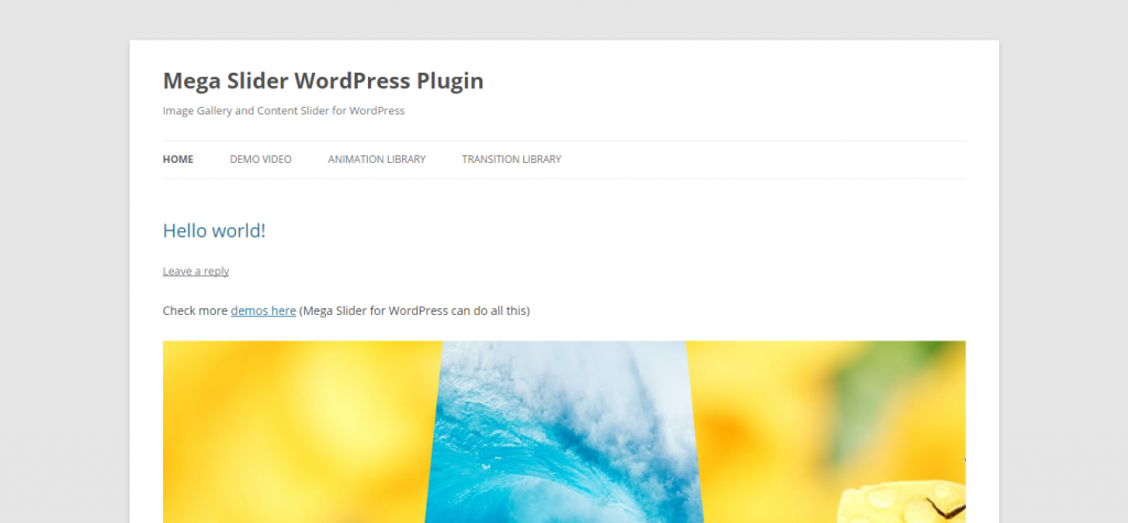 Mega Slider Responsive WordPress Slider Plugin