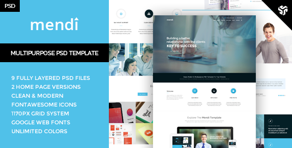 Mendy MultiPurpose Corporate Template