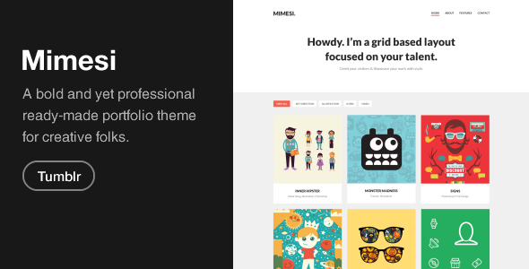 Mimesi Creative Portfolio Theme for Tumblr