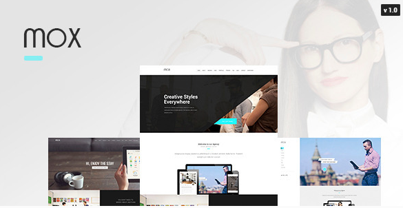Mox Single & Mutli Page PSD Template