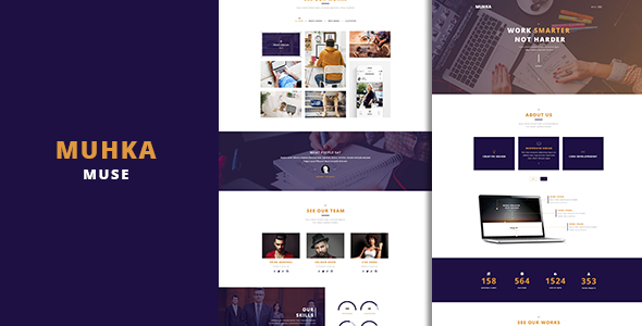 Muhka Multi-Use One page Muse Template