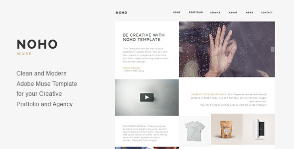 NOHO Creative Agency Portfolio Muse Template