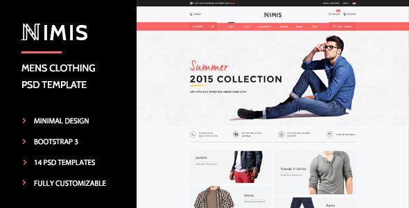 Nimis eCommerce, Online Shop PSD Template