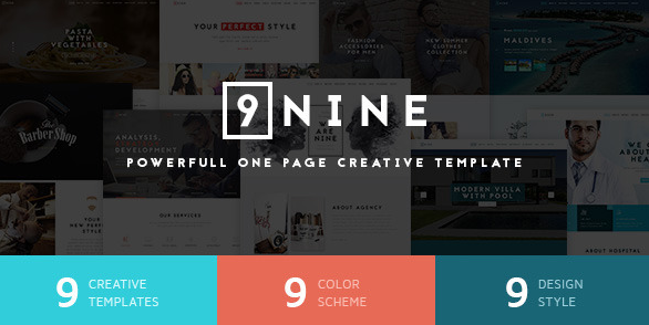 Nine Premium One Page Design