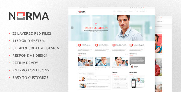 Norma Multipurpose PSD Template