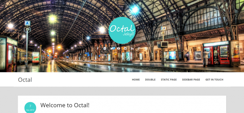 Octal Jekyll Blog Theme