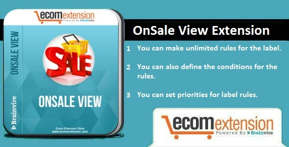 OnSale View Extension For Magento