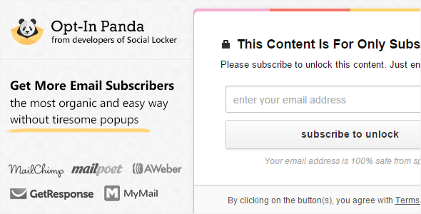 Opt-In Panda for WordPress