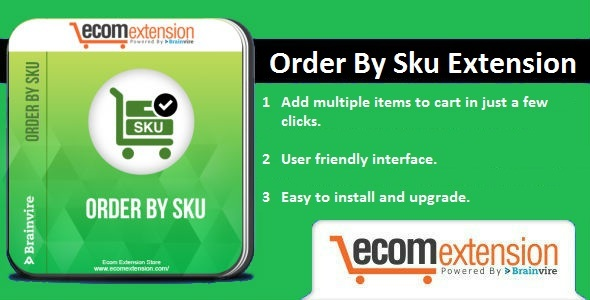 Order By SKU Extension